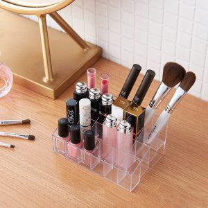 Reviews de Pintalabios organizador cosmeticos maquillaje transparente para comprar