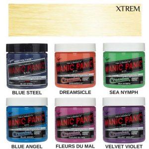 Selección de tinte azul sin decolorar para comprar