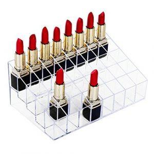Catálogo para comprar On-line Pintalabios Organizador 24 Compartimentos Transparente Pintalabios – Los 30 preferidos