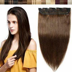 La mejor lista de extensiones de pelo natural de clip para comprar – Los 20 más vendidos