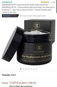 La mejor lista de crema facial hialurónico my cos envases para comprar por Internet