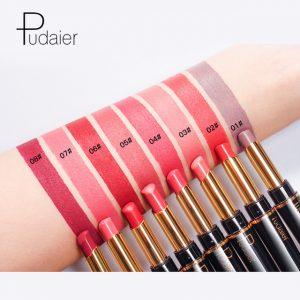 La mejor lista de Pintalabios impermeable maquillaje brillante 16 colores para comprar On-line