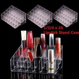 Selección de Pintalabios 24 espacios transparente organizador cosmeticos para comprar en Internet – Los favoritos