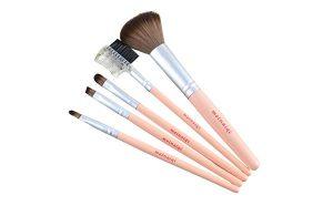 Recopilación de brochas maquillaje madera pestañas mejillas para comprar por Internet