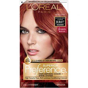 La mejor lista de tinte de pelo rojo cobrizo para comprar On-line