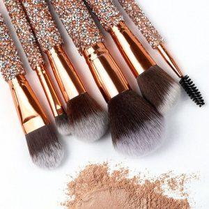 Recopilación de Brochas Maquillaje Cepillos Facial Diamante para comprar online