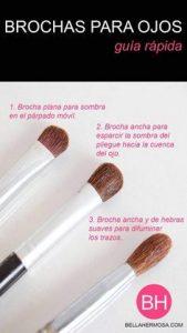 Listado de brochas maquillaje sombra esponja difuminar para comprar