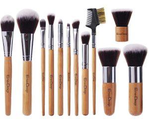 Reviews de brochas maquillaje bambú nailón estuche para comprar online