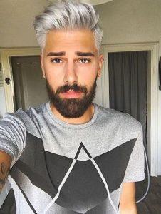 Selección de pelo plateado hombre para comprar