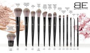 La mejor recopilación de brochas maquillaje diseño dorado pinceles para comprar