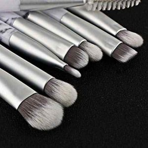 Recopilación de brochas maquillaje mármol plateado rostro para comprar online – Los preferidos por los clientes