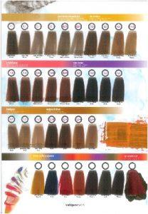 Selección de colores de tinte de pelo para comprar on-line
