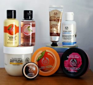 Listado de productos body shop para comprar