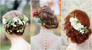 Lista de recogidos con flores en el pelo para comprar online