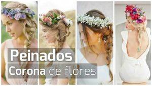 La mejor recopilación de peinado con diadema de flores para comprar On-line