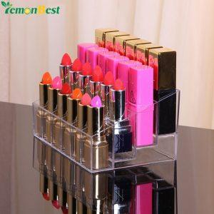 El mejor listado de Pintalabios cosmeticos organizador maquillaje transparente para comprar