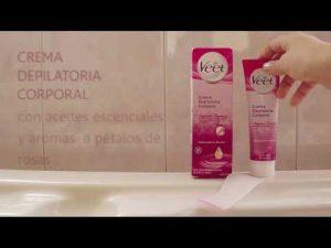 Selección de anuncio de la crema depilatoria para comprar por Internet