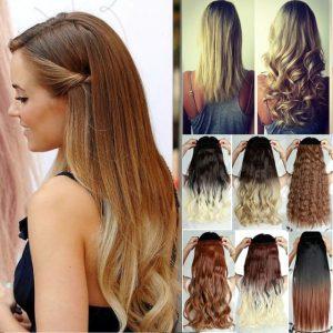 Selección de extenciones de pelo natural para comprar
