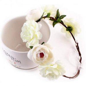 La mejor lista de corona de flores pelo para comprar