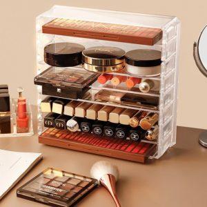 Catálogo de Pintalabios Maquillaje transparente cosmeticos Organizador para comprar online