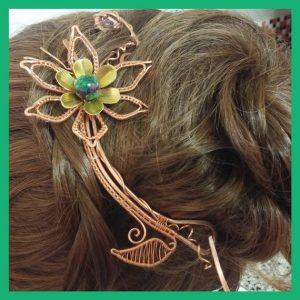 Catálogo para comprar pasadores de flores para el pelo